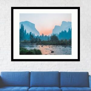 Landscape wall art framed 14x18